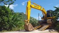 住友SH210-5挖掘机从拖车下车EP.31