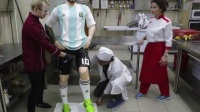 墨西哥餐馆制作与梅西身材1:1人型蛋糕 梅西不能为阿根廷拿下世界杯不想退役 宏观世界波 180623