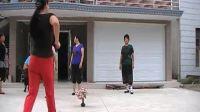zhanghongaaa广场舞 拥军花鼓  88步健身舞蹈教学版 原创
