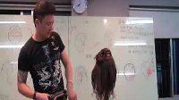 johnny老师电棒造型扎发3