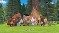 熊熊乐园2: 用树叶编织而成的兔子,看着非常的像,兔子肯定喜欢