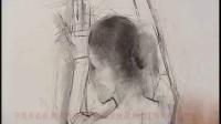 人体背部素描女人裸体素描图女人素描线条