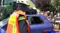 DoppelScania 4Fach Frontblitzer Verkehrsunfall mit eingeklemmter