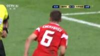 我在【进球】神塔久巴前场做球 切里舍夫接球左脚圆月弯刀直挂死角 俄罗斯1-0领先截了一段小视频