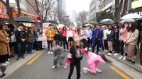 【弘大街头】三个可爱女孩跳童星罗夏恩的【so special】舞蹈模仿 ...