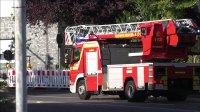 Feuerwehr auf Einsatzfahrt in Monheim a.R.