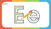 Handwriting Letter E