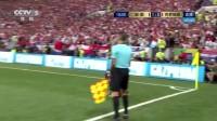 我在【乌龙】格列兹曼任意球落点刁钻 曼朱不幸自摆乌龙 法国1-0领先截了一段小视频