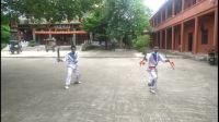 爱剪辑-广西合浦冯维华先生的两弟子在东山寺武术团习练蝴蝶双刀mp4