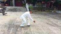 冯维华先生在合浦东山寺武术团习练传统杨氏太极拳28式