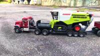 RC遥控半挂卡车收割机拖拉机