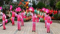 遵化开心广场舞,遵化首届碧桂园杯广场舞大赛开始了,东三里舞蹈队表演,扇子舞张灯结彩。