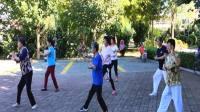 遵化开心广场舞,晨练,太极协会会员学打二十四式太极拳。