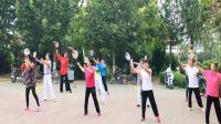 遵化开心广场舞,太极协会会员学打太极柔力球,飞龙二套。