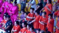 五彩空竹队参加市全民健身锻练方法推广大会留影