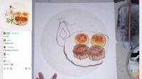 中秋国画写意月饼