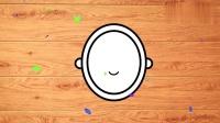 益智拼图,给浴缸,马桶,洗脸池,镜子照位置,并涂上颜色