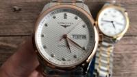 LG浪琴名匠双历间金钻石刻度加ETA钢印刻字日内瓦纹打磨 复刻表 手表 名表 腕表