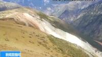 """川藏交界山体滑坡形成堰塞湖 专家:""""自然泄流""""不等于""""没事"""" 181015"""