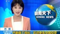 巴新商工部长:欢迎更多中国投资