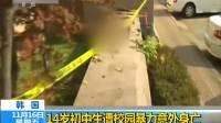 韩国:14岁初中生遭校园暴力意外身亡
