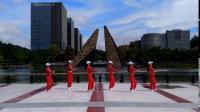 广州飘雪广场舞《中国美草原美》原创动感混搭舞