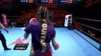 伊朗女将亚瓦里第二回合TKO小将温羽博,取得比赛胜利!