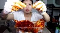 辣酱腌海鲜 鲍鱼 扇贝 吃货吃播美食软软-辣酱腌海鲜 鲍鱼 扇贝