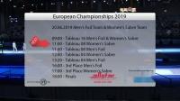 2019年欧洲击剑锦标赛 团体第4天 Commentary Feed