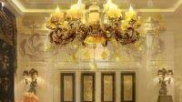 欧式天然玉石吊灯奢华锌合金蜡烛水晶灯简欧复古大气餐厅客厅灯具
