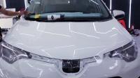丰田RAV4前机盖贴隐形车衣精细讲解教学视频