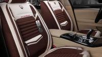 夏季小蛮腰汽车坐垫亚麻养生防滑免绑奥迪BMW专用四季通用座垫
