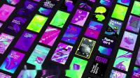 PR模板-漂亮时尚抽象背景文字标题竖屏视频海报包装动画