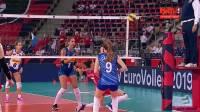 2019.09.04 意大利 vs 俄罗斯 - 2019女排欧锦赛 1/4决赛
