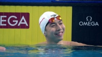 """男子100米蛙泳决赛:""""亚洲蛙王""""闫子贝顺利夺冠 2020 FINA冠军游泳系列赛 北京站 第1比赛日 1"""