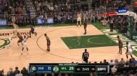 NBA 19/20赛季 常规赛 印第安纳步行者VS密尔沃基雄鹿  还想士气大涨?特纳三分飚进,迪万斯索立刻还以颜色