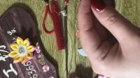 DIY手工教程全集,樱花毛球手机包包挂件,丝带流苏,雨姐手工坊
