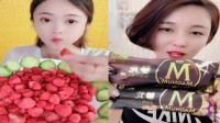 萌姐吃播:彩色果蔬脆、彩色棒棒糖,是我童年向往的生活