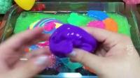 五颜六色的大手气球也能混泥?装满无硼砂材料搭配玩具玩,超解压