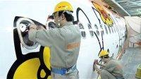 长荣航空Hello Kitty Jet 彩绘机涂装过程及记者发表会