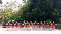 丽清姐妹广场舞最新原创《心中的歌儿献给金珠玛》好看又好跳、编舞丽清
