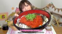 【木下大胃王】密集恐惧症注意  1kg鲑鱼子加7合米饭配石莼汤