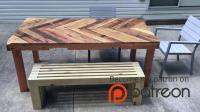 【木工DIY】现代户外长凳