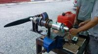 小型涡轮发动机测试