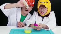 《小伶玩具》冰冻粘土实验室, 和夏天一起来做史莱姆怪兽吧!