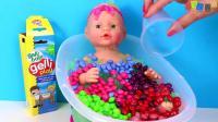 宝贝娃娃娃娃训练走错了 - 学习颜色宝宝娃娃浴时间挡板玩具为孩子