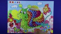 爱乐家园 亲子游戏 蜗牛儿童手工钻石画 小猪佩奇