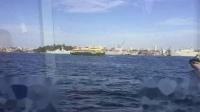 在悉尼港乘游船到深海看鲸鱼