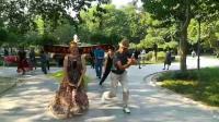 王跃强副会长!兔兔美女老师精彩麦舞对跳!聂虎子摄影制作!