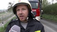 Beifahrerin bei LKWUnfall in Scharten schwer im Fahrzeug eingeklemmt